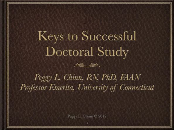"Title slide from Keynote Presentation ""Keys to Successful Doctoral Study"""